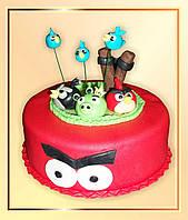 """Детский торт  """"Прикольные птички-2"""""""