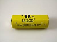 Аккумулятор Bailong 26650 6800mAh 3.7V, аккумуляторная батарея, Bailong 26650 6800mAh 3.7V