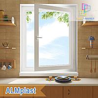 Одностворчатое поворотно-откидное окно 800x1400 ALMplast eco Киев