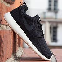 Мужские ОРИГИНАЛЬНЫЕ кроссовки Nike Roshe Run черные АТ-172