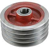 Шків малий 4 ручья роторної косарки Wirax 1,65 8245-036-010-250, 5036010250, фото 4