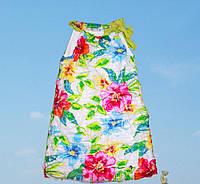 Нарядное платье-сарафан, с цветами, на завязке вверху, итальянский бренд нарядной одежды Alice Pi