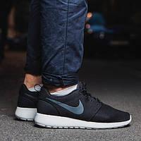 Мужские ОРИГИНАЛЬНЫЕ кроссовки Nike Roshe Run черные АТ-178