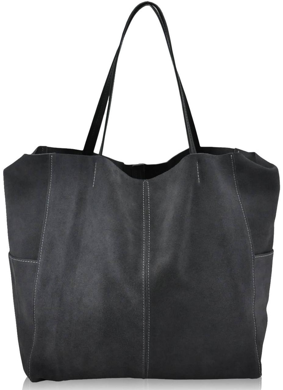 8d3862e47882 Женская замшевая сумка 8 серая — купить в Киеве недорого