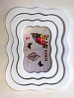 Набор подносов Прованс, 3 шт, 43х35 см, Аксессуары для кухни, Декор для дома, Днепропетровск
