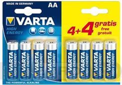 Батарейка Varta LR6 High-Energy 1x8