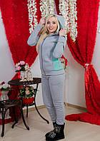 Костюм женский утепленный св-сер+мята