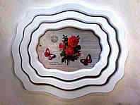 Набор подносов Прованс, 3 шт, 45х37 см, Аксессуары для кухни, Декор для дома, Днепропетровск