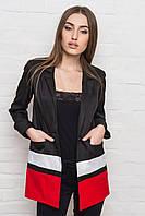Длинный черный женский пиджак
