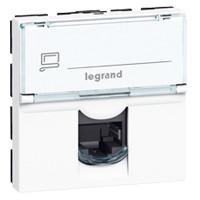 Купить Механизм компьютерной розетки RJ45 кат. 5е UTP 2 модуля, Mosaic белый, Legrand