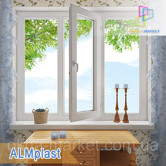 Трехстворчатое окно  ALMplast цены