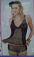 Женский комплект.цвет майка хаки,шорты черные Турция,отличного качества.95% вискоза.р:M - L.