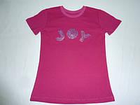 Малиновая футболка с пайетками JOY
