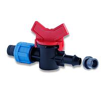 Кран стартовый с резинкой для капельного полива Presto-PS OV 031708 R (50 шт в уп.)