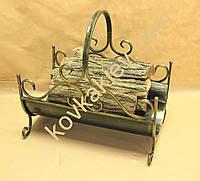 Кованая подставка для дров. Дровница 02 Большая.