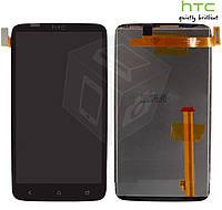 Дисплейный модуль (дисплей + сенсор) для HTC One X S720e G23, черный, оригинал