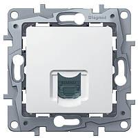 Механизм телефонной розетки RJ11, Etika белый, 672240