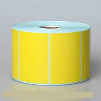 Этикетка 52х40 (1000 шт) полуглянец желтая