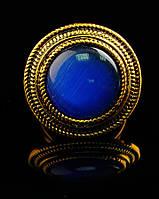 Кольцо с натуральным камнем Кошачий глаз