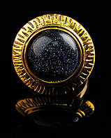 Изысканное кольцо с натуральным камнем Авантюрин