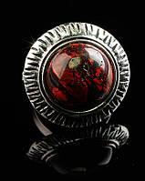 Кольцо с натуральным камнем Яшма