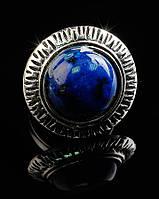 Кольцо с натуральным камнем Лазурит