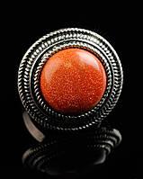 Кольцо с натуральным камнем Авантюрин