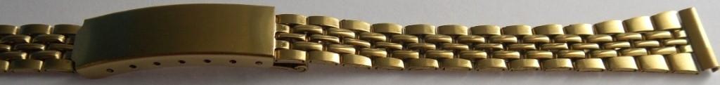 Браслет для часов метал 12 золото Б12