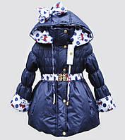 Куртка-плащ  на весну с Микки-Маусами для девочки 98-110