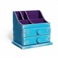 Органайзер для хранения косметики «Sophia» голубой, фиолетовый