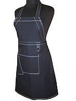 Передник джинсовый с нагрудником для официанта Atteks  - 00417, фото 1
