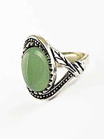 Кольцо с натуральным камнем Нефрит