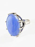 Кольцо с камнем  Голубой агат