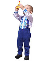Рубашка с бабочкой   для мальчиков М-1032 рост 80-98, фото 1