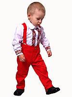 """Рубашка с бабочкой   для мальчиков М-1032 рост 80-98 тм """"Попелюшка"""", фото 1"""