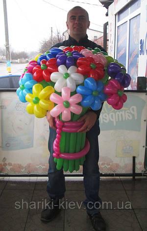 Большой букет из шариков Ромашки разноцветные, фото 2