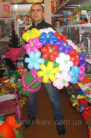 Большой букет из шариков Ромашки разноцветные, фото 3
