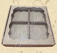 Коробка для пряников с фигурным окном с ложементом