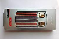Подтяжки 'Classic-Royal' серые с красными полосами