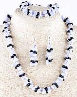 Женские украшения с голубого агата