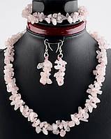 Украшения с розового кварца для девочек