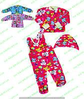 Комплект для новорожденных велсофт цветной под памперс
