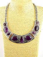 Ожерелье с камнем аметист
