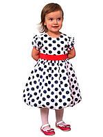 Платье нарядное детское из атласа с поясом М -1030  рост 80-104, фото 1