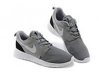 Беговые кроссовки мужские  Nike Roshe Run II светло серые с белой подошвой