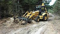 Корчевание пней, спил деревьев, удаление кустарников, планировка участка, погрузка и вывоз мусора Киев.