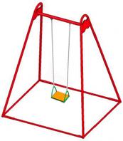 Гойдалка одинарна металева на ланцюгах (DIO-311) для вулиці