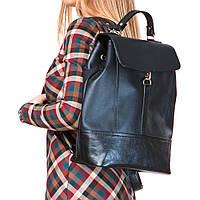 Модный черный рюкзак матовый женский городской