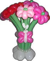 Букет из шариков Ромашки с бабочкой на День рождения