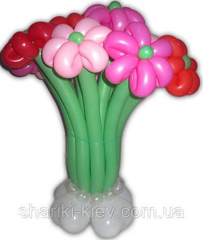 Букет из шариков Ромашки с бабочкой на День рождения, фото 2